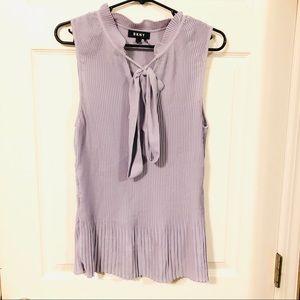 DKNY ribbed lilac blouse! Large